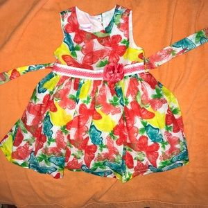 Beautiful and bright toddler summer dress